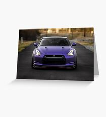 Purple R35 GTR Greeting Card