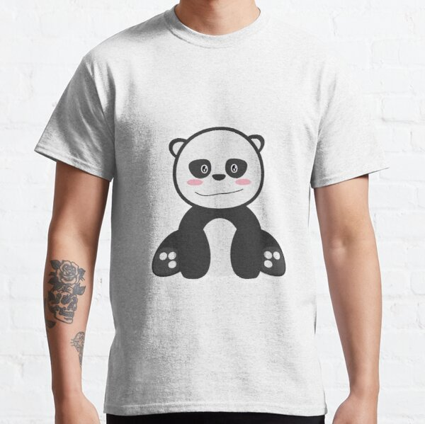Panda in bamboo's forest T-shirt classique