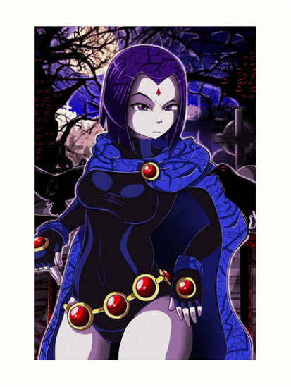 Quot Teen Titans Raven Quot Art Print By Darkmirroremo23 Redbubble