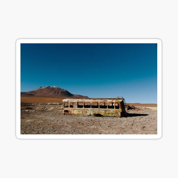 Desert Sand Rocks Blue Sky Bus  Sticker