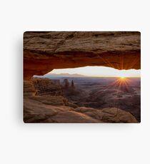 Mesa Arch Sunrise - Canyonlands National Park - Moab Utah Canvas Print