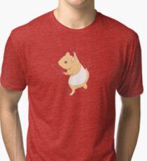 Climbing Hamster Tri-blend T-Shirt