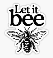 Let It Bee Beekeeper Quote Design Sticker