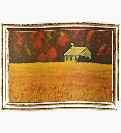 """""""Mountain Autumn"""" ... with a canvas and framed presentation, for prints Poster"""