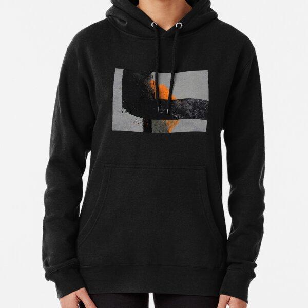 Minimal Orange on Black Pullover Hoodie