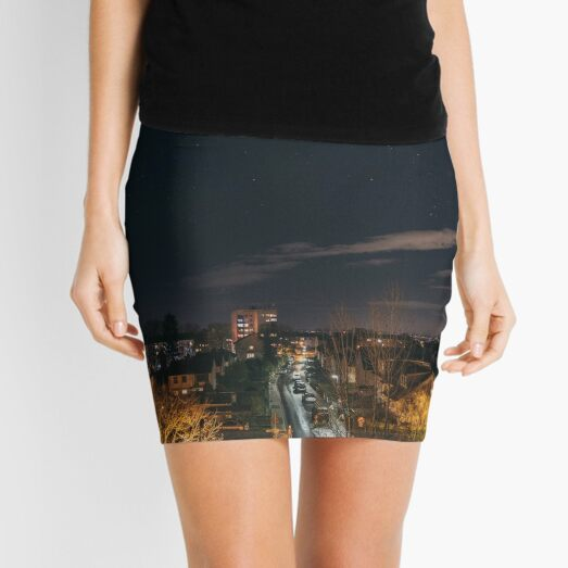 Looking up at the stars from home Mini Skirt