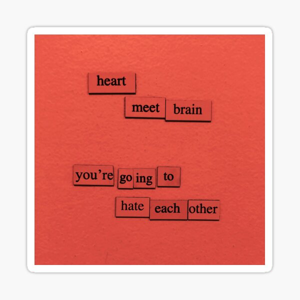 Heart Meet Brain Sticker
