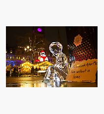 #PleaseLookAfterMe Ice Sculptures - Manchester Photographic Print