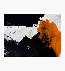 Minimal Orange on Black Photographic Print