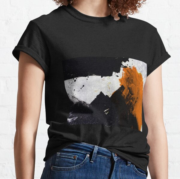 Minimal Orange on Black Classic T-Shirt