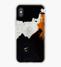 Minimal Orange on Black iPhone Case