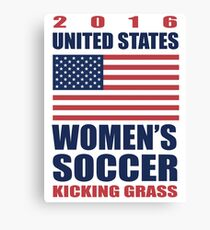 United States Kicking Grass Canvas Print