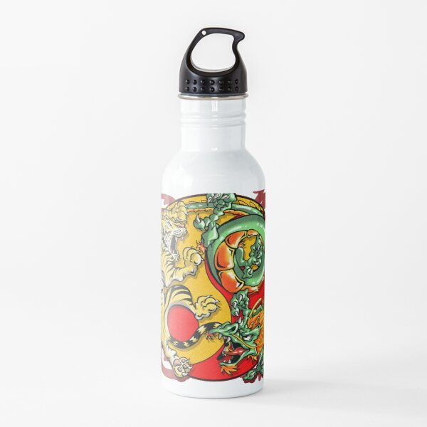 Mind and Body is One - Tiger and Dragon Variant Water Bottle