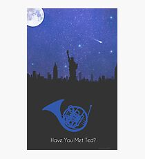 Have you met ted? - french horn version Photographic Print