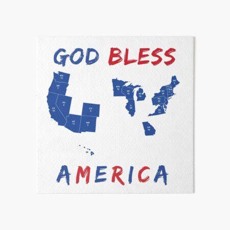 God Bless America (2020 Update) Art Board Print
