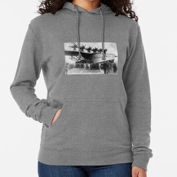 Flying boat. Ancient photography of ancient technique. Lightweight Hoodie