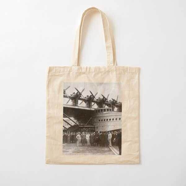 Flying boat. Ancient photography of ancient technique. Cotton Tote Bag