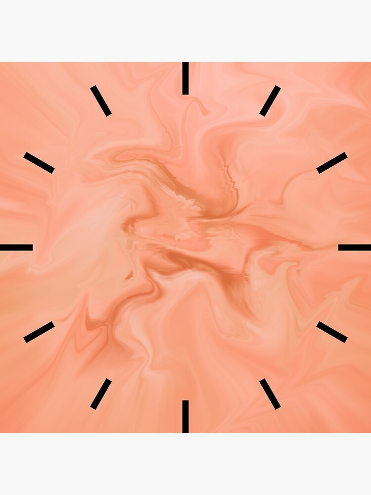 Abstract Orange Marble by QuirkyClock