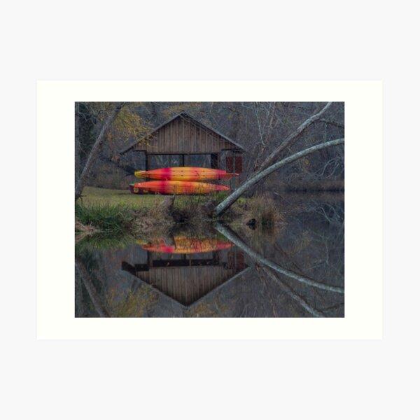 Watson Mill Boathouse Art Print