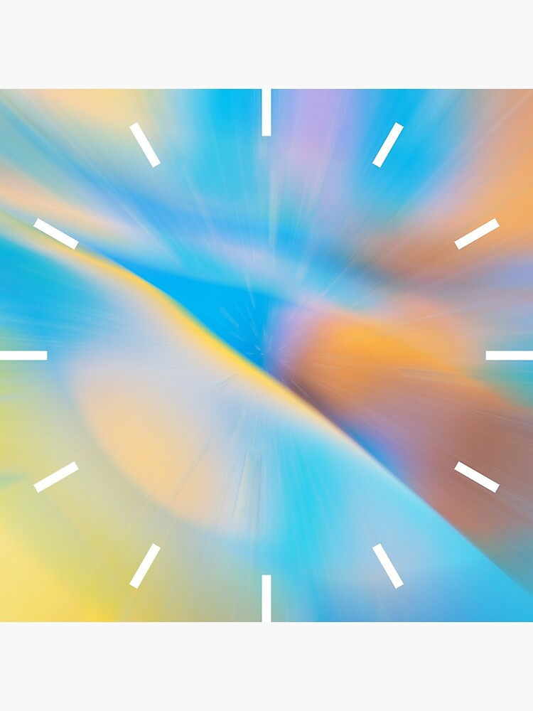 Abstract Zoom Blue & Yellow by QuirkyClock
