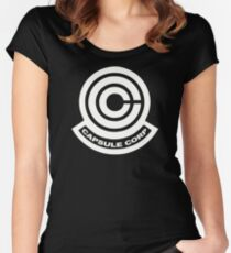 Capsule Corp Logos Women's Fitted Scoop T-Shirt