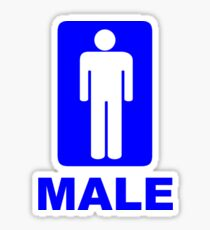 Male Sign Sticker