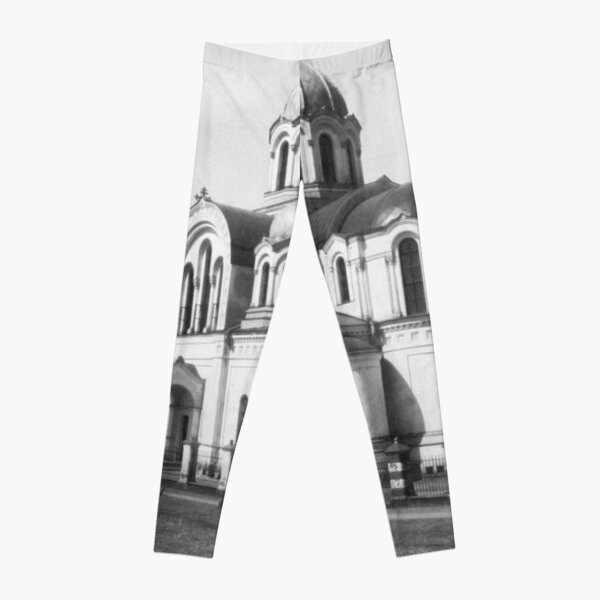Ancient photo of the ancient orthodox church Leggings