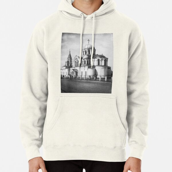 Ancient photo of the ancient orthodox church Pullover Hoodie