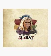 Clarke - The 100 - Brush Photographic Print