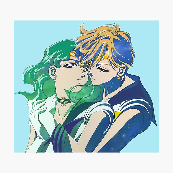 Sailor Neptune and sailor Uranus Photographic Print