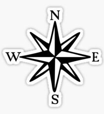 Compass Rose (monochrome) Sticker