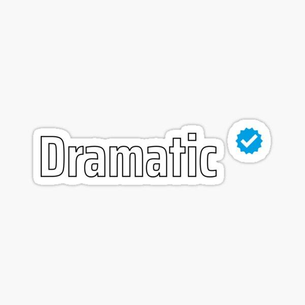 Verified Dramatic Sticker