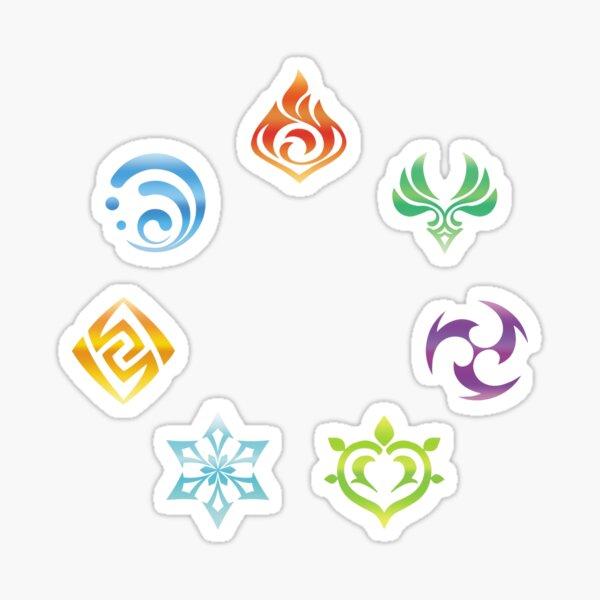 Genshin Impact Elements Elemental Resonance Sticker