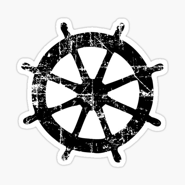 Lenkrad Vintage Segeln Design Sticker