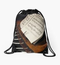 A Little More Music Drawstring Bag