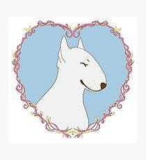 Love Bull Terrier - Pastel Photographic Print