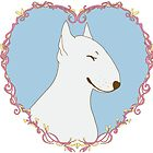 Love Bull Terrier - Pastel by Qtea
