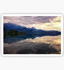 Dusk on Lake Kochel Sticker