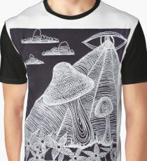 Trippy Eye Mushrooms Graphic T-Shirt