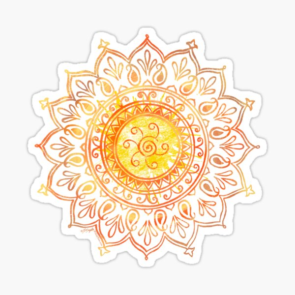 Decorative Indian Sun  Sticker