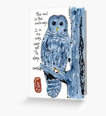 Barred Owl with Haiku Greeting Card