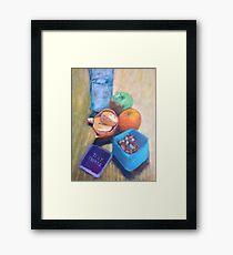 Snack Pot Acrylic Style  Framed Print