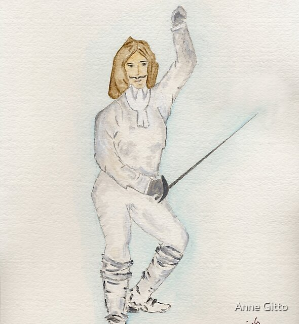 A Man Fencing by Anne Gitto