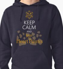 Keep calm and join the Heart Pirates Pullover Hoodie