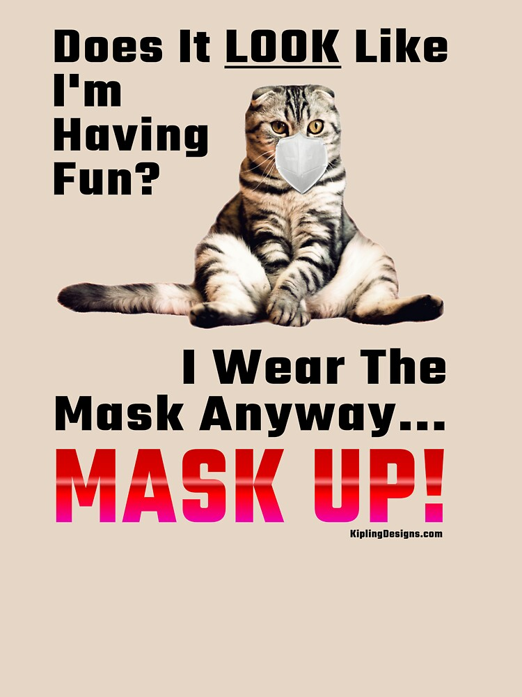 Silly Cat Mask-Up Message by mikepil