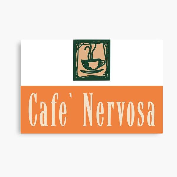 Frasier Seattle Cafe Nervosa Logo Sign Canvas Print