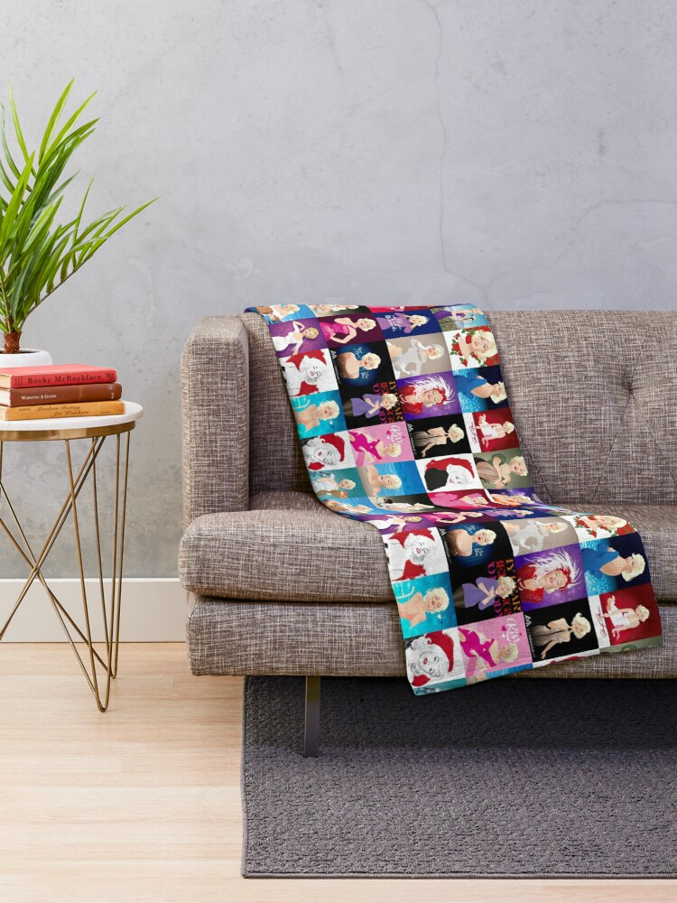 Alternate view of MM Patchwork Throw Blanket
