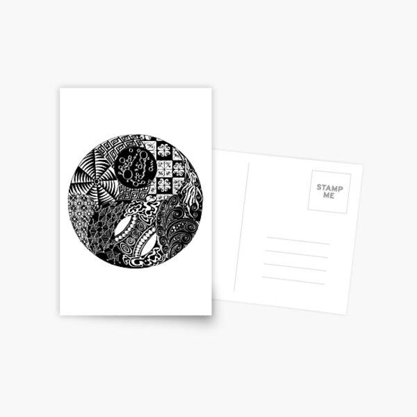 Order/Chaos - Yin/Yang Postcard