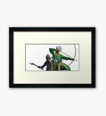 Legolas and Gimli Framed Print