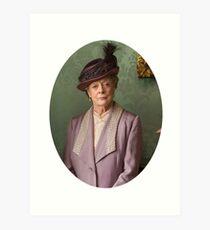 Lady Violet Downton Abbey Art Print